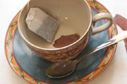 preparação da imagem de Panax ginseng chá