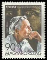 Portrait of Janosz / Hanse Selye on the Hungarian postage stamp