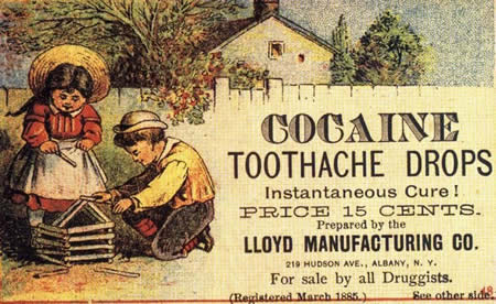 Toothpaste with cocaine