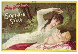 Opium syrup for pain relief for infants